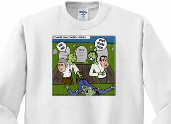 Halloween - Zombie Practical Jokes - Clinton and Nixon Masks Sweatshirt