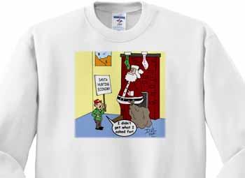Dale Hunt - Santa Contributes to the Bad Economy Sweatshirt
