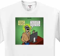 Invisible Man Internet Dating and Web Catfishing T-Shirt
