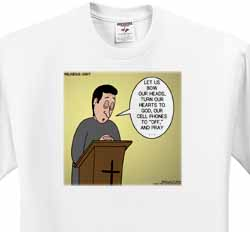 Prayer and Cell Phones T-Shirt