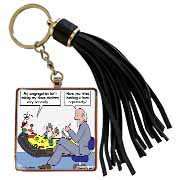 Pastor Problems with Clown Ministry Tassel Key Chain