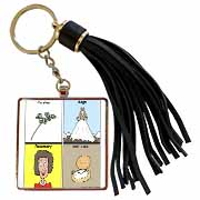 Parsley Sage Rosemary and Time Tassel Key Chain