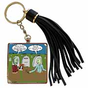 Halloween - Zombies are Invited to Michael Jacksons Party Tassel Key Chain