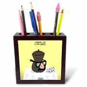 Funeral for a Cartoonist - Groucho Glasses on an Urn Tile Pen Holder