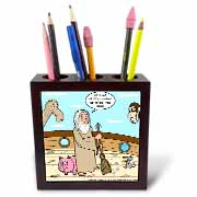 Not Much Glamour In Running Noah s Ark  Tile Pen Holder