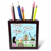Modernism - Building a Church for Jesus Tile Pen Holder