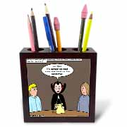 Dracula on the Church Outreach Committee Tile Pen Holder