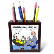 Pastor Problems with Clown Ministry Tile Pen Holder