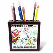 Kevin Edler, Why Santa Uses Reindeer  Tile Pen Holder