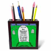 Unexamined Life Tombstone Tile Pen Holder
