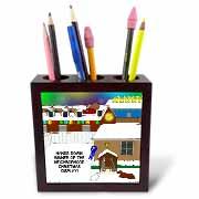 Simple Nativity Wins Neighborhood Christmas Display Contest Tile Pen Holder
