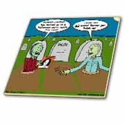 Halloween - Zombies are Invited to Michael Jacksons Party Tile