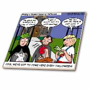 Halloween - Zombie Trick or Treat Tile