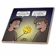Knots Cartoon - Burnt Marshmallow smores - yum Tile