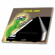 Eelton John the piano player Tile