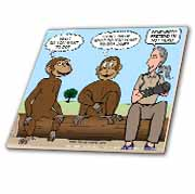 Dr. Jane Goodalls 50th anniversary at GDI - monkey business Tile