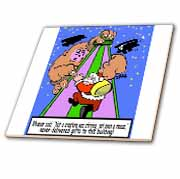 Ira Monroe - Santa Finds Some Buildings are Stirring More than a Mouse Tile