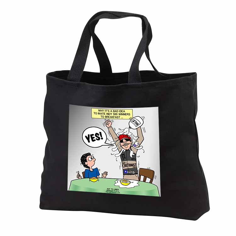 Indianapolis 500 Winner Breakfast Faux Pas aka Milk Accident Tote Bag