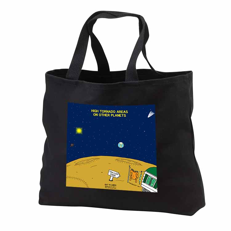 High Tornado Areas on Other Planets Trailer Parks Tote Bag