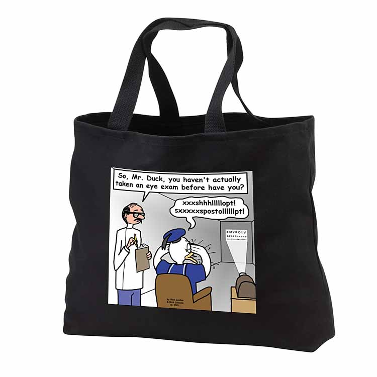 Famous Duck at the Eye Doctor Tote Bag