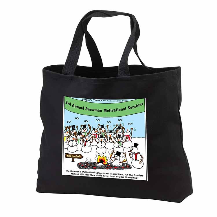 Snowman Motivational Seminar Tote Bag