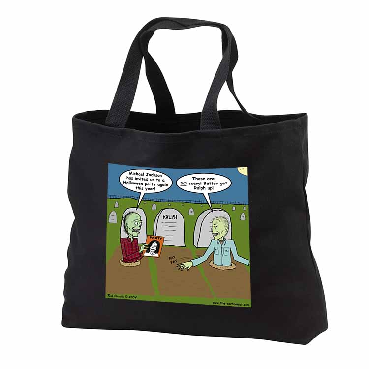 Halloween - Zombies are Invited to Michael Jacksons Party Tote Bag