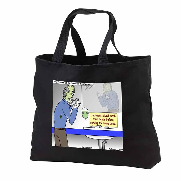 Halloween - Zombie Restaurant Warnings Tote Bag