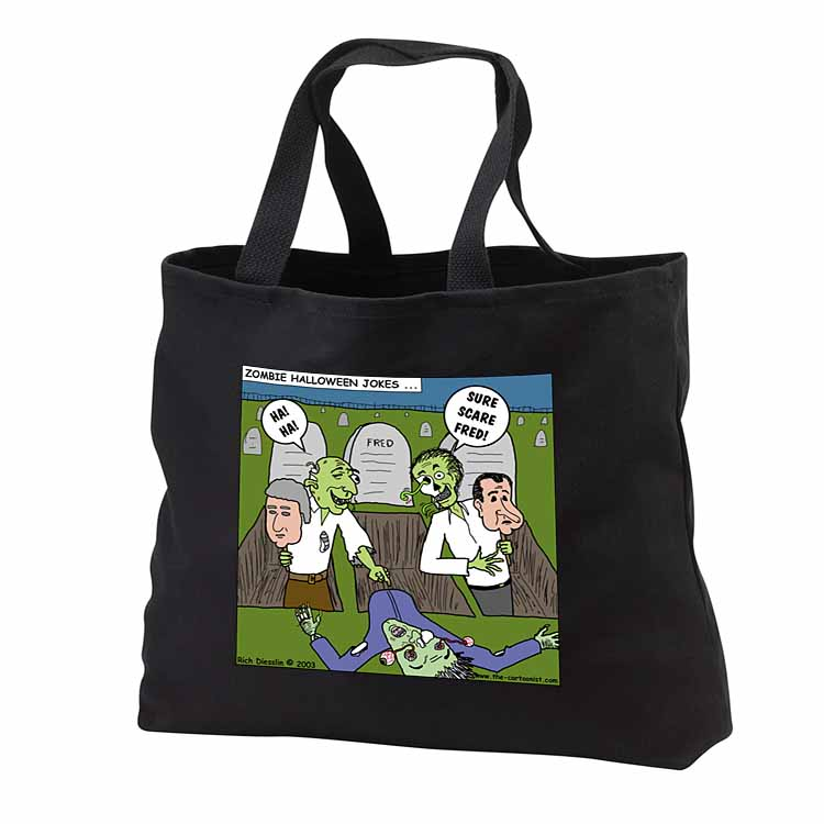 Halloween - Zombie Practical Jokes - Clinton and Nixon Masks Tote Bag
