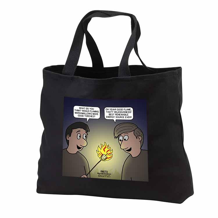 Knots Cartoon - Burnt Marshmallow smores - yum Tote Bag