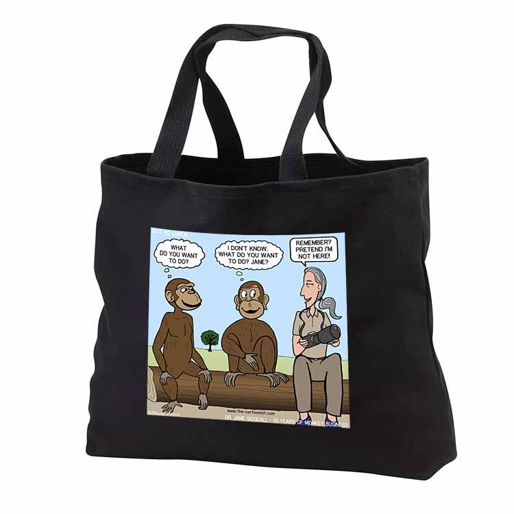 Dr. Jane Goodalls 50th anniversary at GDI - monkey business Tote Bag