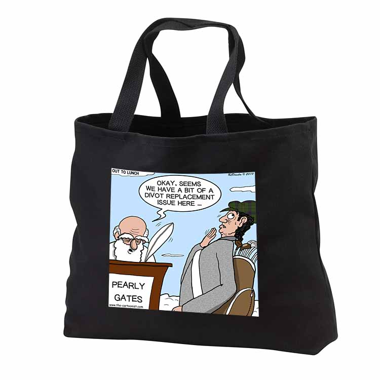 Heaven - St. Peter and the Golf Divot Replacement Sin of Omission Tote Bag