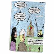 Modernism - Building a Church for Jesus Towel