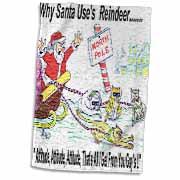 Kevin Edler, Why Santa Uses Reindeer  Towel