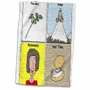 Parsley Sage Rosemary and Time Towel