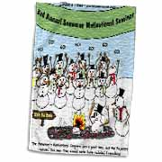 Snowman Motivational Seminar Towel