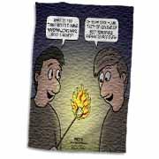 Knots Cartoon - Burnt Marshmallow smores - yum Towel