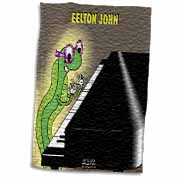 Eelton John the piano player Towel