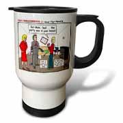 Ten Commandments 5 Honor Your Parents Travel Mug