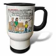 Ten Commandments 7 Stay Faithful to Spouse Travel Mug