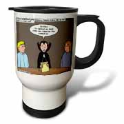 Dracula on the Church Outreach Committee Travel Mug