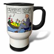 Pastor Problems with Clown Ministry Travel Mug
