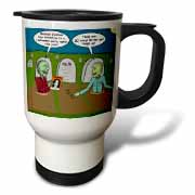 Halloween - Zombies are Invited to Michael Jacksons Party Travel Mug