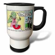 Halloween - Zombie Punch and the Religious Visitors Travel Mug