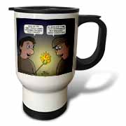 Knots Cartoon - Burnt Marshmallow smores - yum Travel Mug