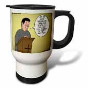 Prayer and Cell Phones Travel Mug