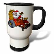 Nelson Deweys Reindeer Powered Santa Dragster Sleigh Travel Mug