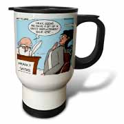 Heaven - St. Peter and the Golf Divot Replacement Sin of Omission Travel Mug