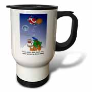 Larry Miller - Santa Takes Advantage of His Diving Lessons Travel Mug