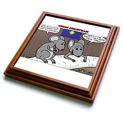 Rich Diesslin Mice Contemplate the Baby Jesus at Christmas Trivet