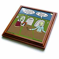 Halloween - Zombies are Invited to Michael Jacksons Party Trivet